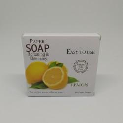 Sapone in Fogli al Limone