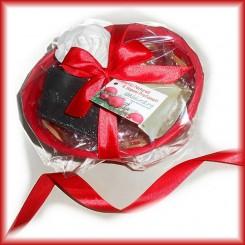 confezione 2  saponi in cestino rosso